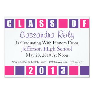 Class Of 2012 Invitation (Purple / Magenta Boxes)