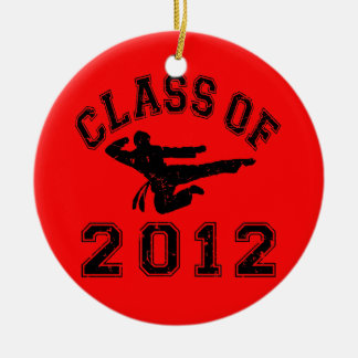 Class Of 2012 - Martial Art 2 D Double-Sided Ceramic Round Christmas Ornament