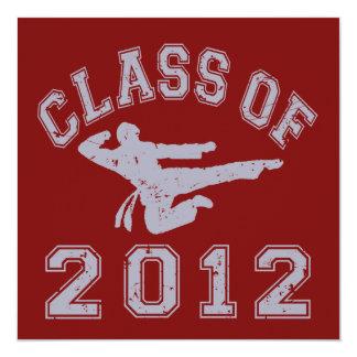 Class Of 2012 Martial Art - Grey 2 Invitations