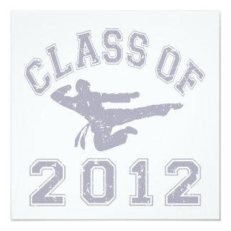 Class Of 2012 Martial Art - Grey 2 Custom Announcement