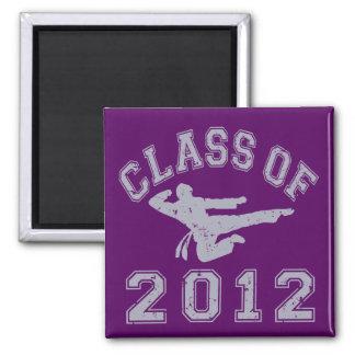 Class Of 2012 Martial Art - Grey 2 Magnet