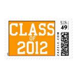 Class of 2012 Orange Graduation Postage Stamp