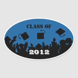 Class of 2012 Oval Stickers sticker