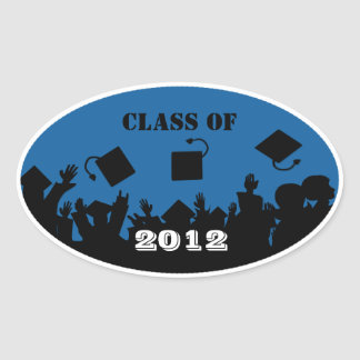 Class of 2012 Oval Stickers