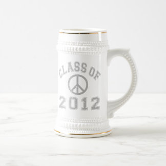 Class Of 2012 Peace -Grey 2 Beer Stein