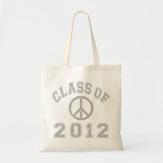 Class Of 2012 Peace -Grey 2 Tote Bag