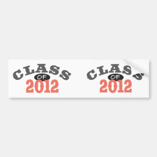 Class Of 2012 Peach Bumper Sticker