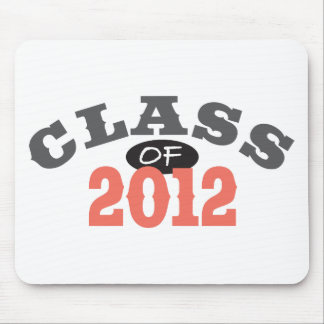 Class Of 2012 Peach Mouse Pad