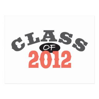 Class Of 2012 Peach Postcard
