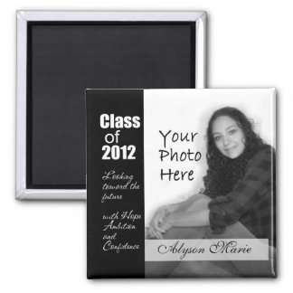 Class of 2012/ Photo 2 Inch Square Magnet