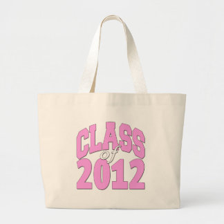 Class of 2012 (pink2) large tote bag