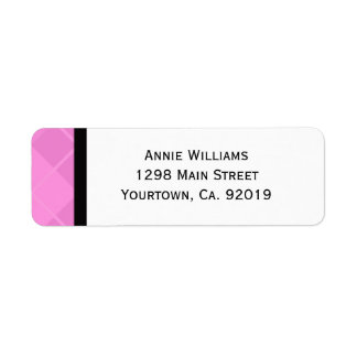 Class of 2012 Pink and Black Graduation Label