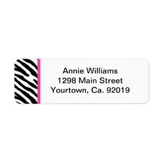 Class of 2012 Pink and Black Zebra Stripe Label