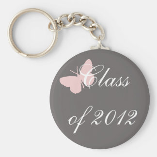 Class of 2012 - Pink and Grey Keychain