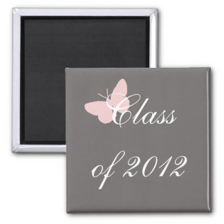 Class of 2012 - Pink and Grey Magnet