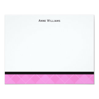 Class of 2012 Pink Black Argyle Thank You Card