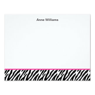 Class of 2012 Pink Black Zebra Stripe Thank You Card