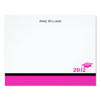 Class of 2012 Pink Cap and Tassel Thank You Card