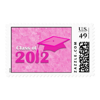 Class of 2012 Pink Floral Graduation Stamps