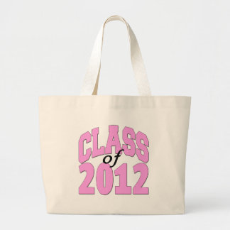 Class of 2012 (pink) large tote bag