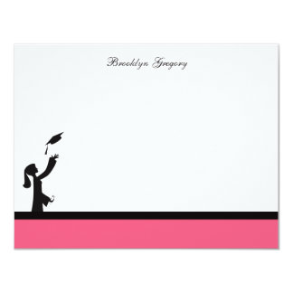 Class of 2012 Pink Silhouette Graduation Thank You Card