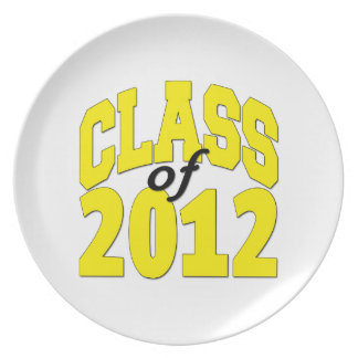 Class of 2012 plate