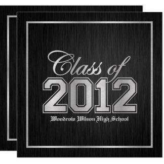 Class of 2012 Premium Silver Graduation invites