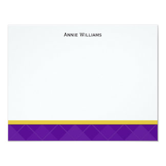 Class of 2012 Purple and Gold Graduation Thank You Card