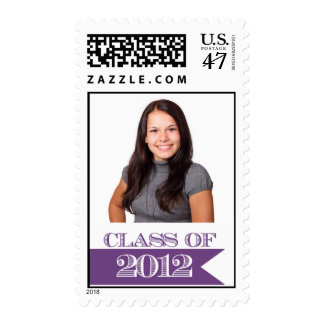 Class of 2012 Purple Photograph Postage Stamp