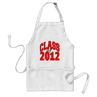Class of 2012 (red) adult apron