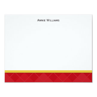 Class of 2012 Red and Gold Graduation Thank You Card