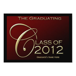 Class of 2012 Red Gold Graduation Announcement
