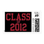 Class of 2012 RED Graduation Postage Stamp