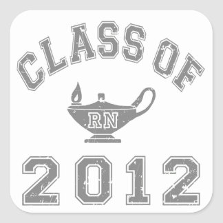 Class Of 2012 RN Square Sticker