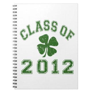Class Of 2012 - Shamrock Green 2 D Note Books