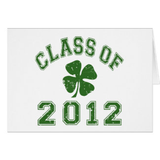 Class Of 2012 - Shamrock Green 2 D Stationery Note Card