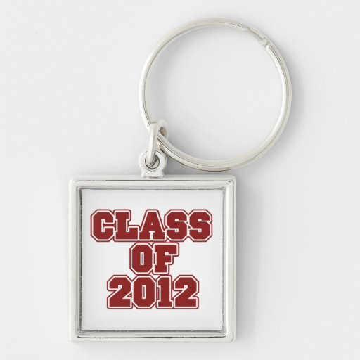 Class of 2012 Silver-Colored square keychain