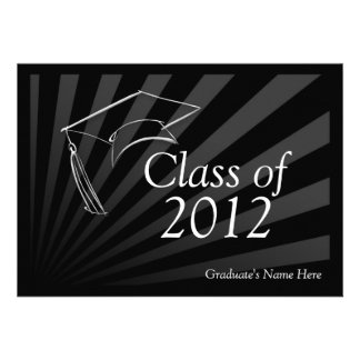 Class of 2012 Sleek Black Graduation Announcement