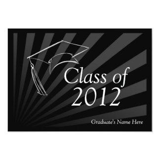 Class of 2012 Sleek Black Graduation Announcement