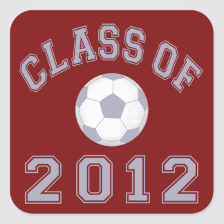 Class Of 2012 Soccer - Grey 2 Square Stickers