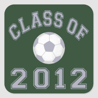 Class Of 2012 Soccer - Grey 2 Square Sticker