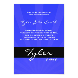 Class of 2012 Spring Collection Blue Card