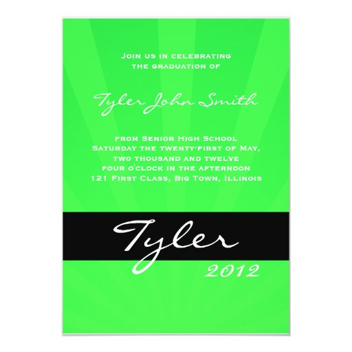 Class of 2012 Spring Collection Green Card