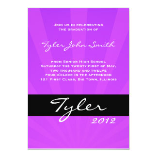 Class of 2012 Spring Collection Purple Card