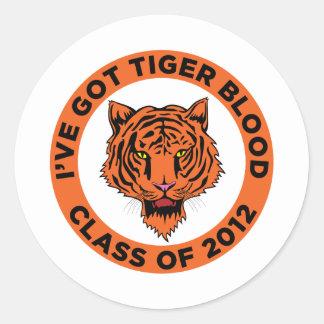 Class of 2012 round sticker
