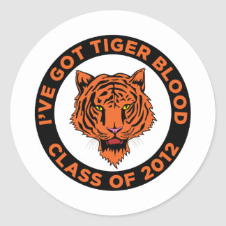 Class of 2012 round stickers