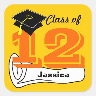 Class of 2012 Sticker Cap Diploma 3