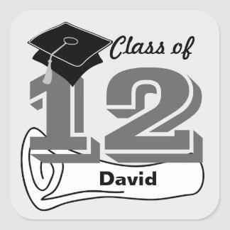 Class of 2012 Sticker Cap Diploma 4