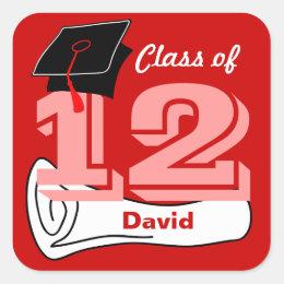 Class of 2012 Sticker Cap Diploma 5