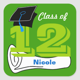 Class of 2012 Sticker Cap Diploma 6